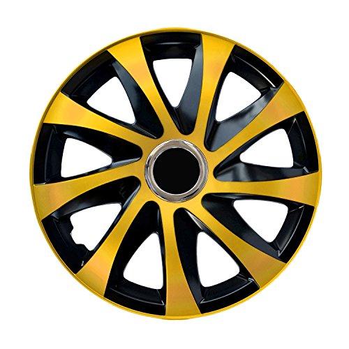 Centurion Radzierblende Drift EXTRA Gold/schwarz 14 Zoll 4er Set