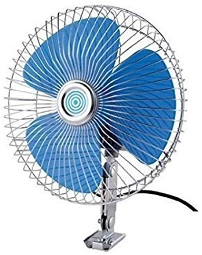 ERH India Ever Auto Rotate 12V DC Car Interior Fan 6 Inch with Switch and Wiring