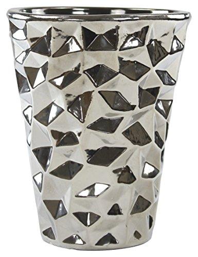 Decoline Pflanz-Gefäß Vase Silber 1 Stück - groß