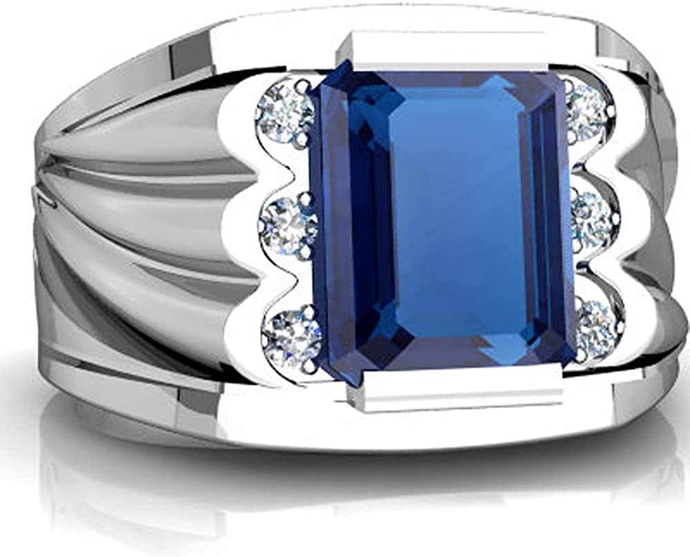 Smile Sparkle 3CT 9x7 OFFicial mm Emerald Birthstone 9 Diamond Cut 100% quality warranty! CZ