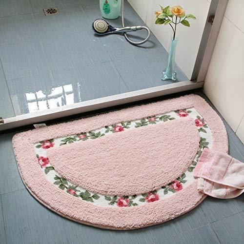 Nice Rose Flower Area Rugs Soft Non Slip Absorbent Bath Mat Bathroom Rugs Door Mat Kitchen Mat