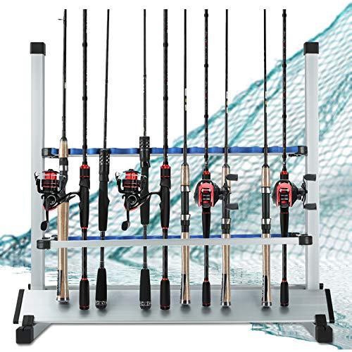 LUXHMOX Fishing-Rod Holder Rack Holds 24