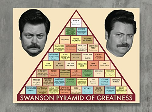 APPLEpie Parks and Recreation Ron Swanson Pyramid Workplace Comedy TV Television Show Poster High Definition Posters Standard Size 24 x 18 inch