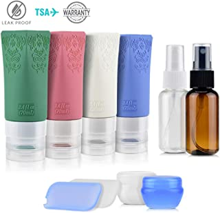Travel Bottles TSA Approved Leak Proof Refillable Travel Containers for Toiletries, PACETAP 10 Pack Travel Size BPA Free Cosmetic Containers for Shampoo Lotion Liquids - Women & Men
