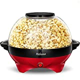 Yabano Popcorn Maker, 5L Electric Popcorn Machine for Healthy Less Fat Popcorn,800W