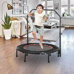 top 10 crane trampoline JOYMOR trampoline 2-in-1, with handle for kids and parents, 40 inch trampoline, with rebounder, kids …