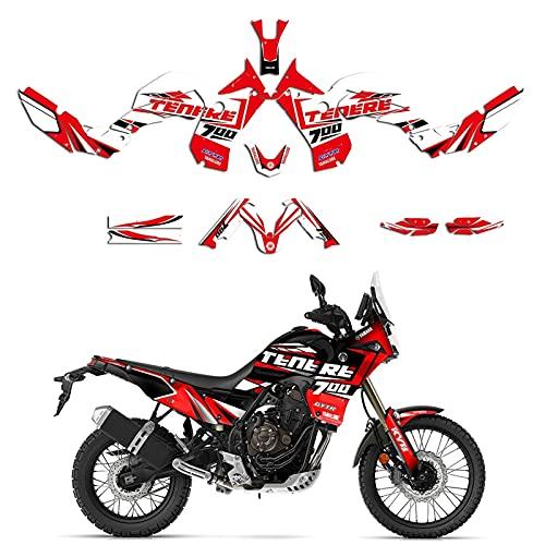 Kit de Etiqueta de calcomanías de gráficos de Motocicleta para Yamaha Tenere 700 T7 2019 2020 2021 (Color : Style 2)