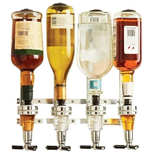 Dispensador de vino en la pared con 4 estaciones, barra de licor, vertedor para beber, hogar, bar, herramientas para cerveza, soda, coca y refrescos
