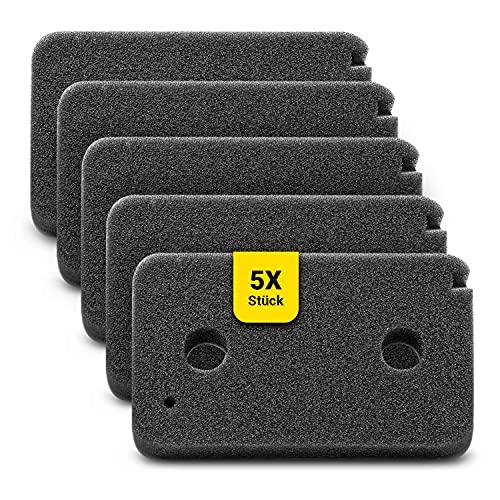 Filtros de esponja para secadoras Miele 9499230, juego de 5 unidades, filtro de espuma, filtro de espuma, filtro de pelusa, filtro de repuesto, 215 x 130 mm