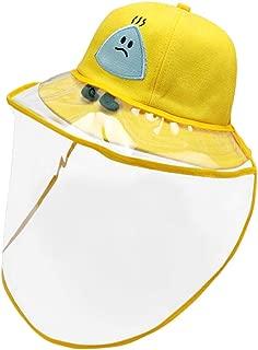 Domybest Cappello da Pescatore Antispruzzo Cappuccio Protettivo Anti-sputo Anti-Saliva Protezione Facciale con Visiera Trasparente Rimovibile Cappello Protettivo per Bambini 1-4 Anni