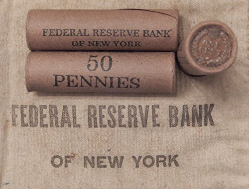 1859 Various Mint Marks Indian Head 1x 50 Cent Indian Head Penny Cent Roll 50 Cents IHC 1859-1909 Old US Pennies Various…