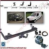 ATTELAGE avec faisceau 7 broches | Fiat Doblo de 2001 à 2009 / crochet «col de cygne» démontable avec outils