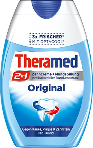 Theramed 2-in-1 Original Zahncreme, 4er Pack (4 x 75 ml)