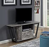 Convenience Concepts Graystone 60' TV Stand, Faux Birch / Slate Gray Frame