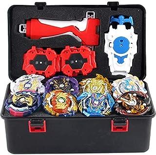 12 Pieces Gyro Burst Starter Battle Gyro Set, 4D Fusion Gyro Kids Toys with String Launcher + Launcher + Launcher Grip Swo...
