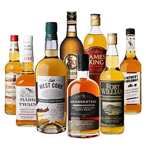 アイラ島のシングルモルト & 伝統あるアイルランドのシングルモルト入り ウィスキー エキスパート 厳選 8本セット スコッチ ブレンデッド 詰め合わせ 飲み比べ 第18弾 長S