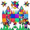 PicassoTiles 100 Piece Set 100pcs Magnet Building Tiles Clear Magnetic 3D Building Blocks Construction Playboards, Creativity beyond Imagination, Inspirational, Recreational, Educational Conventional #4