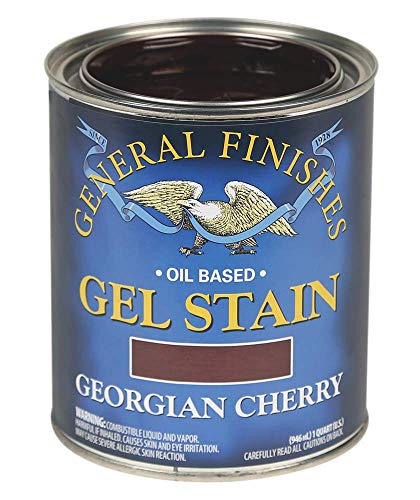 General Finishes Oil Base Gel Stain, 1 Quart, Georgian Cherry