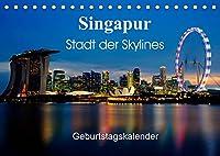 Singapur Stadt der Skylines (Tischkalender 2022 DIN A5 quer): Einzigartige Aufnahmen einer asiatischen Metropole (Geburtstagskalender, 14 Seiten )