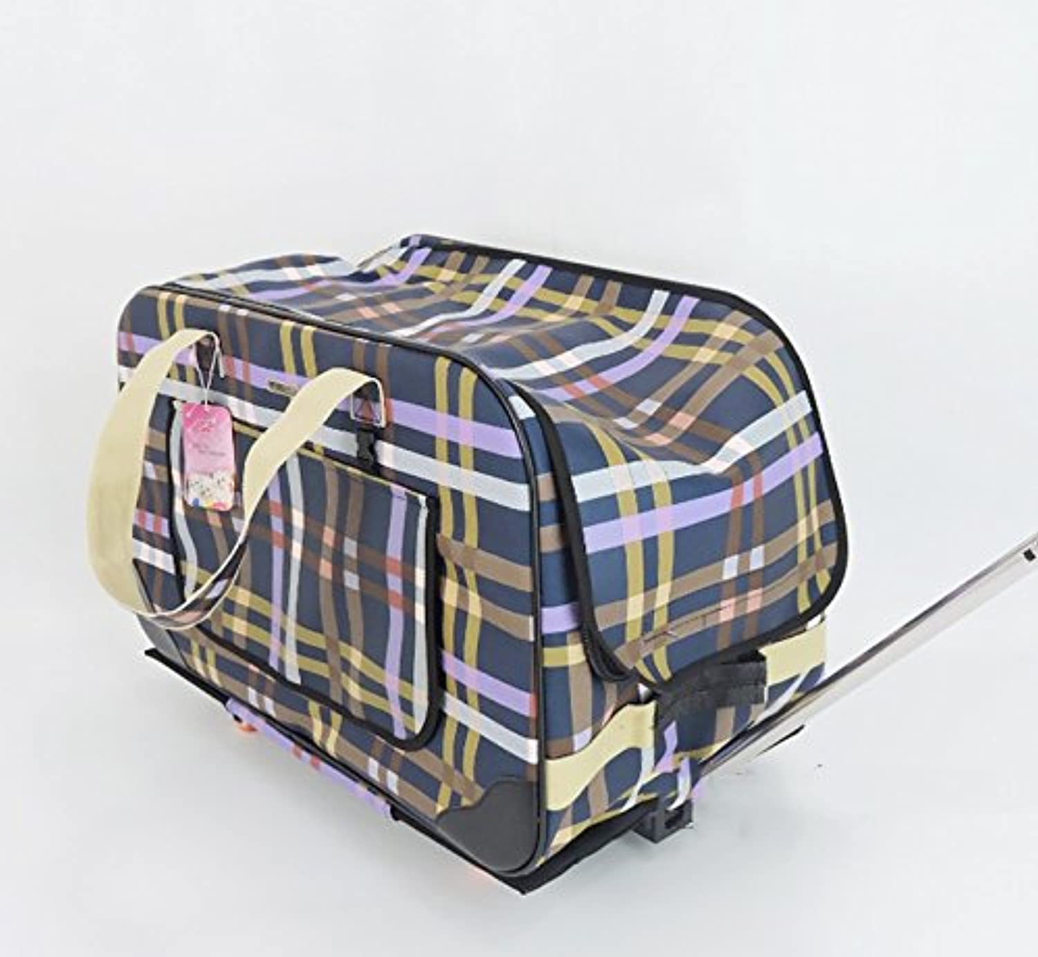 NAUY Dog Trolley Case Pet Bag Trolley Bag Out Of Portable Backpack