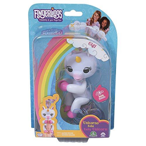 Giochi Preziosi Wowwee Fingerlings - Unicornio Gigi, Gema, Alika, Modelos Surtidos