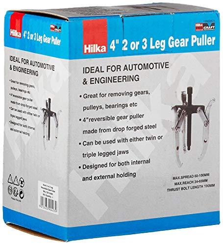 Hilka 12900423-4-Pulgadas Pierna Reversible Engranaje Extractor