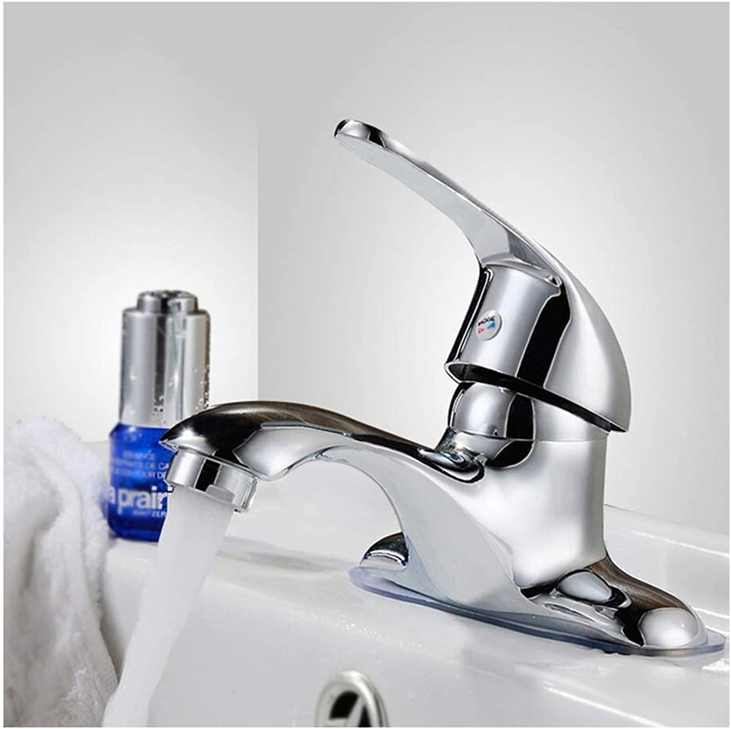 JBP Max Faucet Household Copper Double Hole Wash Basin Hot And Cold Water Faucet Mixing Valve Faucet Copper Main Body-42