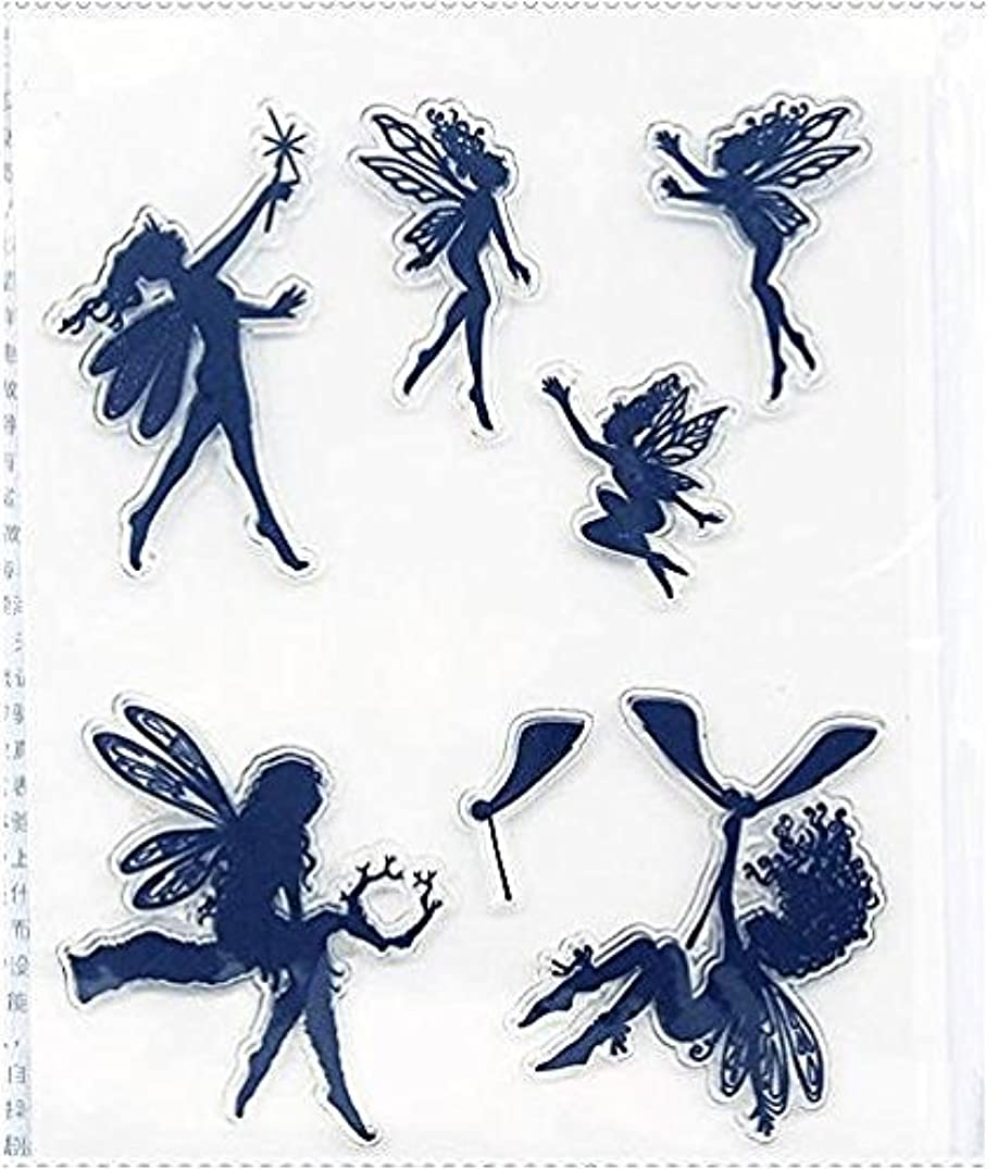 Magic Flower Fairy Series Clear Rubber Stamp for DIY Scrapbooking