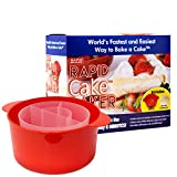 Rapid Cake Maker | Microwave Delicious Cake in 4 Minutes | Dishwasher-Safe, Small Kitchen, or Office |Perfect for Dorm, Microwaveable, & BPA-Free