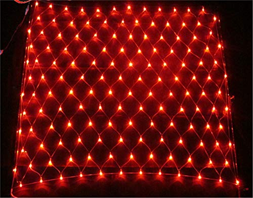 He-shop Net LED féerique imperméable avec décorations extérieures intérieures à télécommande de pelouse de Jardin de Noël de Noël Red 8 * 10m Light Post