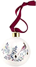 Portmeirion Home & Gifts Partridge in a Pear Tree Christmas Bauble, Ceramic, Multi Coloured, 9