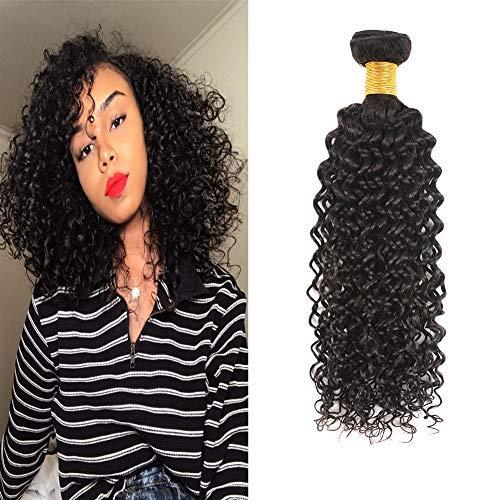 Huarisi Lockige Tressen Echthaar 1 Bundle Curly Brazilian Hair Weave 16 Inches 100g/pcs Jerry Curl Human Hair Bundle a Pack Natural Color Prime Amazon