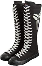 Girl's Cool Glowing Pattern High-top Canvas Dance Boots Womens Shoes