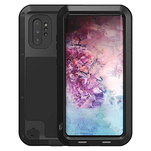 Samsung Galaxy Note 10 Plus/Pro Case, Love Mei Aluminum Metal Outdoor Shockproof Military Heavy Duty Sturdy Protector Cover Hard Case for Samsung Galaxy Note 10 Plus/Pro (Black, Note 10 Plus/Pro)