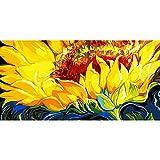 ZXDA Frameless DIY Pintura por números Pintura de Girasol sobre Lienzo de Gran tamaño para Las Artes de la Sala de Estar A1 60x75cm