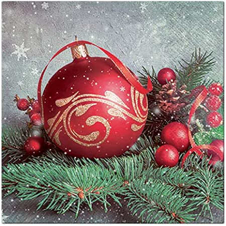 3-ply Paper Napkins Real Love Luncheon size Christmas Pack of 20 33 x 33 cm Ambiente