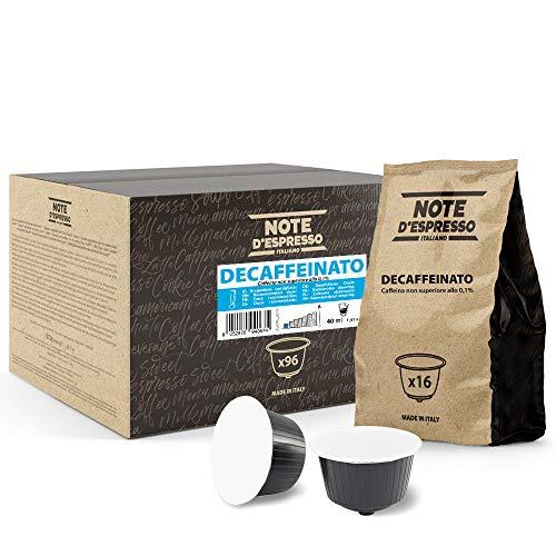 Note d'Espresso - Descafeinado - Cápsulas de Café compatibles con Cafeteras NESCAFE'* DOLCE GUSTO* - 96 caps