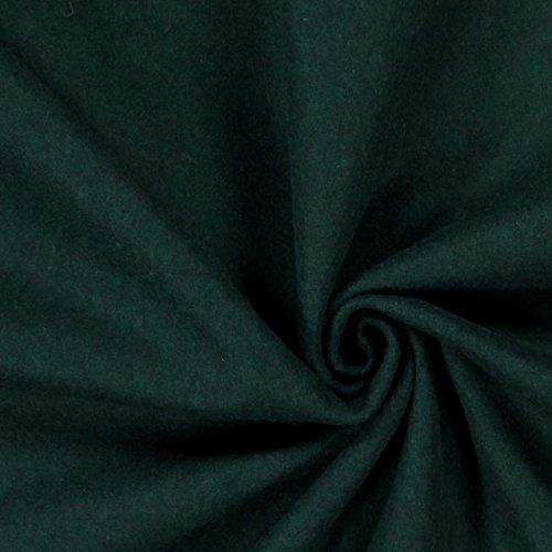 Fabulous Fabrics Thermostoff Woll Mix Petrol — Meterware ab 0,5m — zum Nähen von Vorhänge und Homeaccessoires