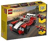 LEGO Creator3in1 AutoSportiva - Auto da Corsa-Aeroplano,Set da Costruzione, Giocattoli per Bambini e Bambine dai 7 Anni in su, 31100