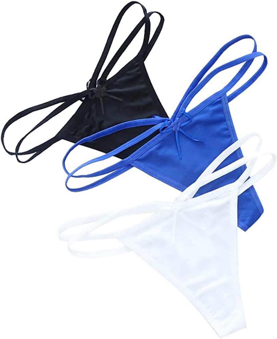Sexy Women Micro G-String Thong Panty Underwear Low Rise Sheer Tiny Panties T-back Sexy Lingerie Breifs