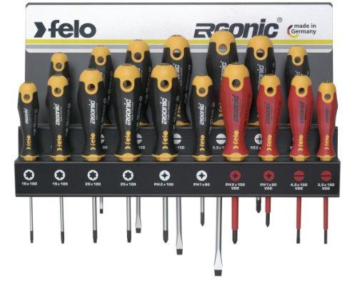 Felo 00040091743 Ergonic Serie 400 - Juego de destornilladores (17 piezas)