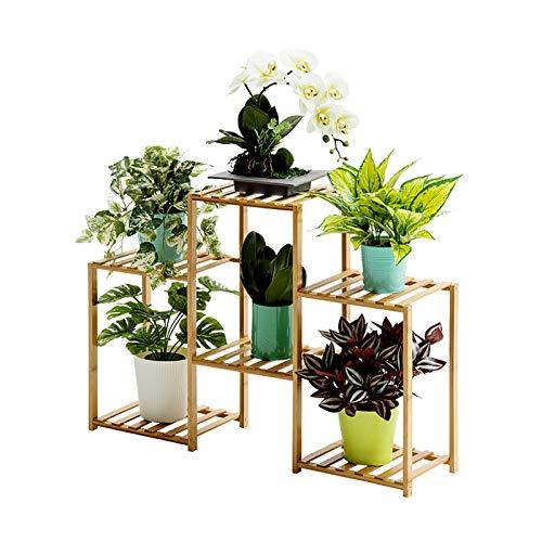Porte-fleurs Bamboo Landing Multi-layer Rack pour succulentes intérieur Support pour balcon (taille : 83 * 25 * 60cm)