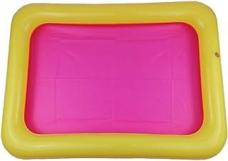 EmNarsissus Bandeja de Arena Inflable Castillo Mesa móvil Caja de Arena de PVC Bandeja sensorial Juguetes Divertidos para Jugar en el Interior Bandeja de Piscina para niños