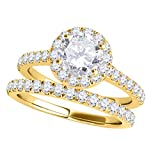 MauliJewels Engagement Rings for Women 0.75 Carat Diamond Engagement Bridal Ring prong 14K Solid...