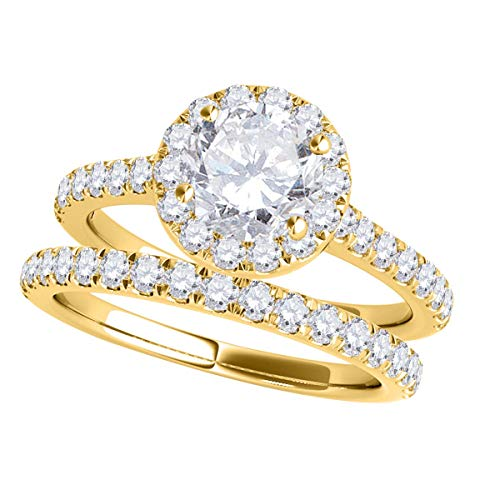 MauliJewels Engagement Rings for Women 0.75 Carat Diamond Engagement Bridal...