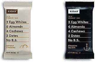 RXBAR, Coconut Chocolate, Protein Bar, 1.83 Ounce (12 count) with Chocolate Sea Salt, Protein Bar, 1.83 Ounce Breakfast Bar