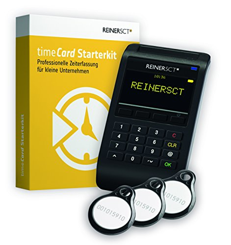 Preisvergleich Produktbild REINER SCT timeCard Starterkit / Zeiterfassung / Für RFID Chip / Transponder und Chipkarten / Inkl. Software & Wandhalterung