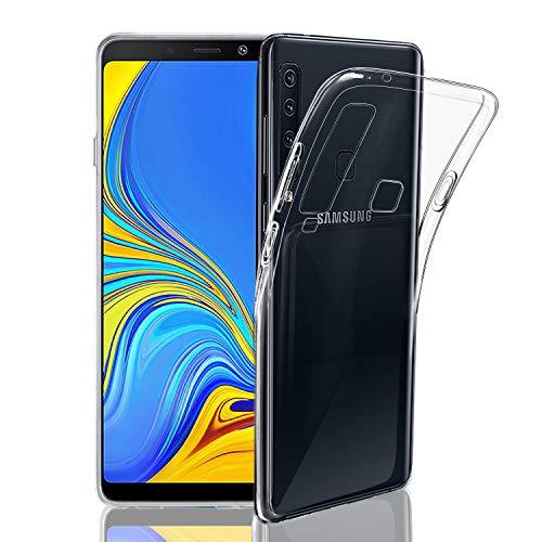 NEW'C Kompatibel mit Samsung Galaxy A9 2018 Hülle, Ultra transparent Silikon Gel TPU Soft Cover Case SchutzKratzfeste mit Schock Absorption und Anti Scratch