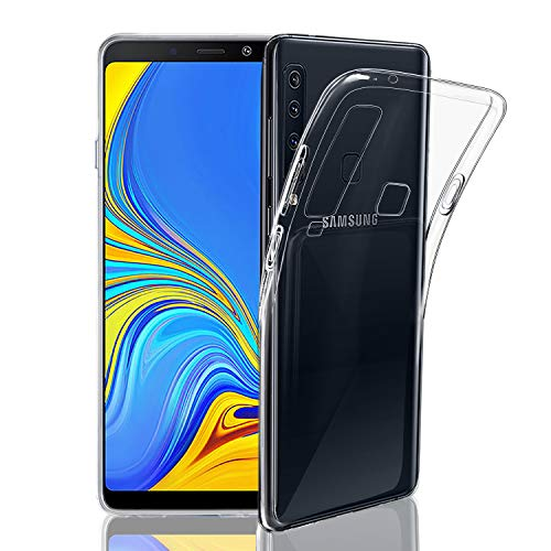 NEW'C Hülle für Samsung Galaxy A9 2018 [Ultra transparent Silikon Gel TPU Soft] Cover Hülle Schutzhülle Kratzfeste mit Schock Absorption & Anti Scratch kompatibel Samsung Galaxy A9 2018