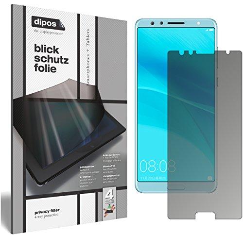 Blickschutzfolie matt kompatibel mit Huawei Nova 2S Sichtschutz-Folie Display-Schutzfolie Privacy-Filter